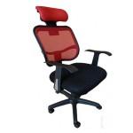 scaun-ergonomic-tetiera-negru-cu-rosu